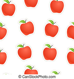 Red apples seamless background