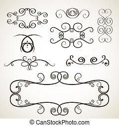 Calligrephic elements