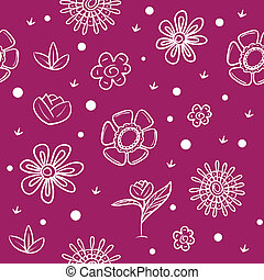 Spring violet background with flowers