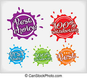 Vector shopping labels. Blot style