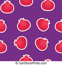 pomegranates seamless background
