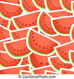 Red water melon seamless background