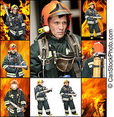 The fireman in regimentals against fire