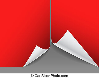 Blank red paper sheets