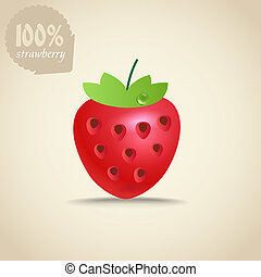 Cute fresh strawberry illustration
