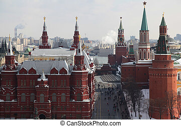 Red Square in Moscow - View of Red Square and National...