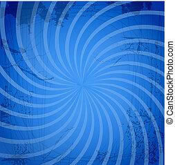 Vintage spiral blue background