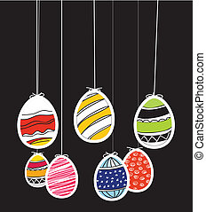 Easter eggs on rope