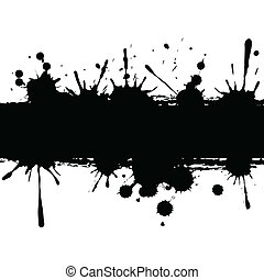 Background with ink strip