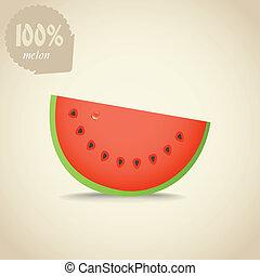 Water melon - Vector illustration