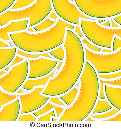 Yellow melon seamless background
