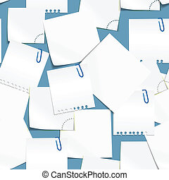 Paper sheets seamless background