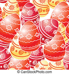 Ornamental Easter eggs seamless texture