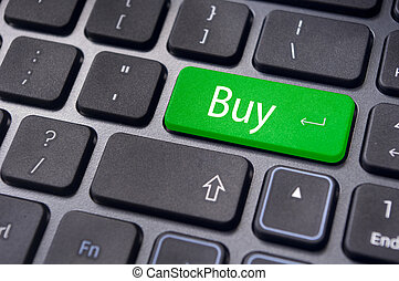 buy concepts for online shopping or stock market - a buy...
