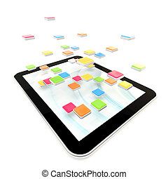 Mobile pad computer with applications - Mobile pad computer...