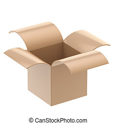 Cardboard package box isolated