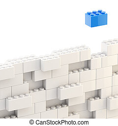 Background wall made of toy blocks - Background wall made of...