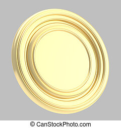 Round copyspase circular plate isolated - Round copyspase...