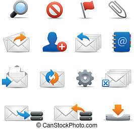e-mail Icons - Set 3 of 3 Soft - Vector icons for your web...