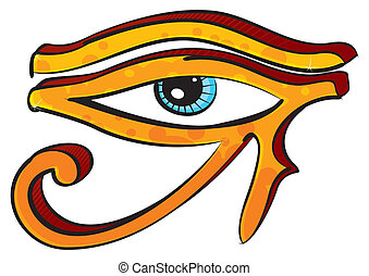 Eye of Horus - Egyptians religion symbol created in graffiti...
