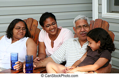 Grandparents - Minority couple at their home
