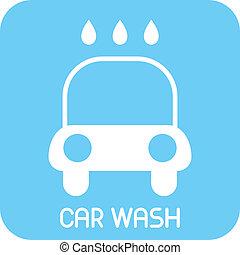 Car Wash - vector icon