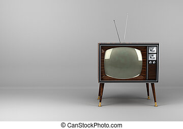 Wood Veneer Vintage TV - Classic vintage TV with wood veneer...