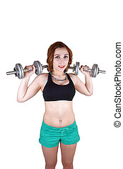 Working out girl.