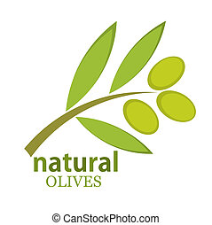 Olive branch logo Vector illustration