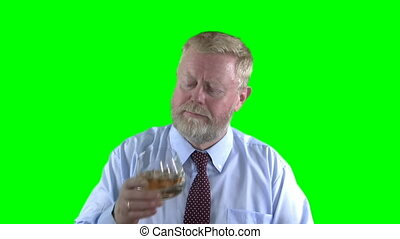 Whiskey - Businessman drinking whiskey