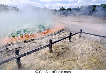 New Zealand -Travel Photos - Champagne Pool in Wai-O-Tapu...