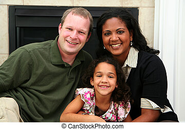 interracial, familia