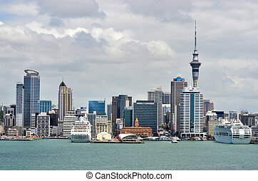 New Zealand -Travel Photos - Auckland city skyline as seen...