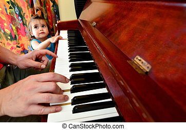 Baby Childhood - Music - Little sweet girl is learning how...