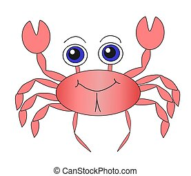 Cute Crab - Illustration of a cute crab