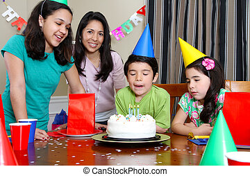 Birthday Party - Group enjoying a birthday party for child