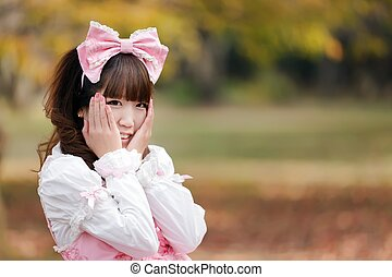 lolita portrait - japanese in sweet lolita cosplay in...