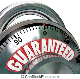 Guaranteed Combination Lock Promise Assurance - The word...