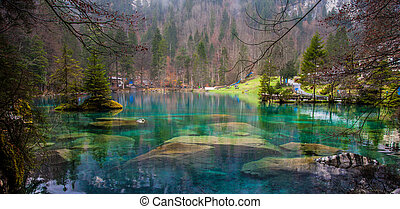Blausee, Switzerland - Rocks - Rocks at the bottom of the...