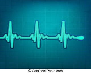 Normal electronic cardiogram EPS 8 vector file included