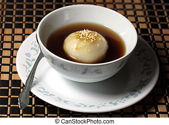Sweet Glutinous Ball - Bowl of sweet glutinous ball soup,...