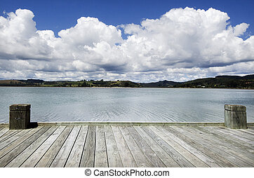 Travel and Vacation Photos - Dreaming on a empty wooden pier...