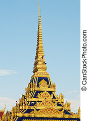 Spires of Cambodian Royal Palace Building.