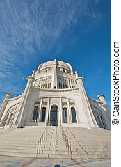 Modern Worship Temple - The Baha'i House of Worship in...