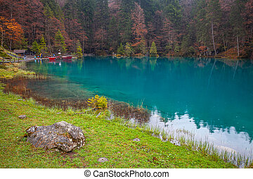 Blausee, Switzerland - Blausee, or The Blue Lake in...