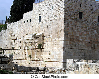 Walls of the Second Temple. Robinson Arch, Jerusalem Walls...