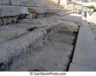 Remains of the Second Temple steps - The remains of the...