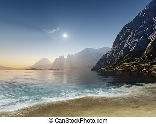 at the ocean - An image of a nice ocean scenery
