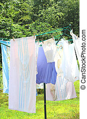 Wash day - Wash day in a country setting