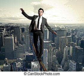 equilibrist, homem negócios